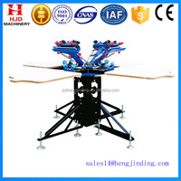 4 colors 4 stations 6colors 6stations manual silk screen printing machine for sales