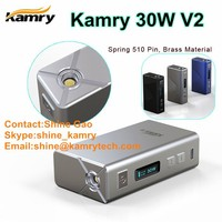 2015 most popular mini kamry 30 v2 box mod mini e-cig with mini box mod zipper case