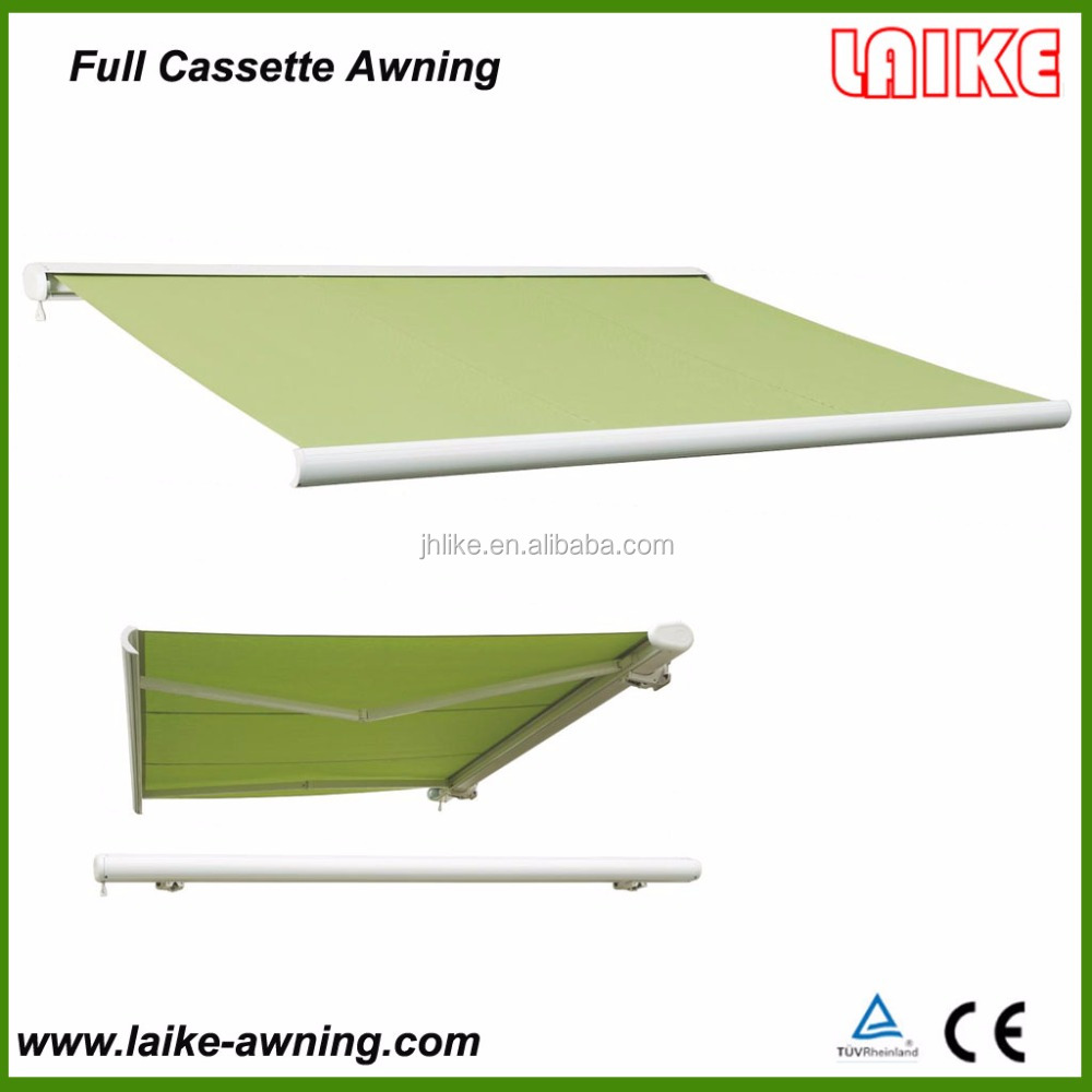 Outdoor automatic aluminum folding arm awning