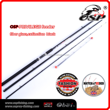 High strength low price extinction black fiber glass fishing feeder rods