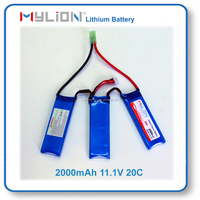 Mylion Lithium Polymer Battery 2000mah 11.1V 3S 20C For Airsoft Gun
