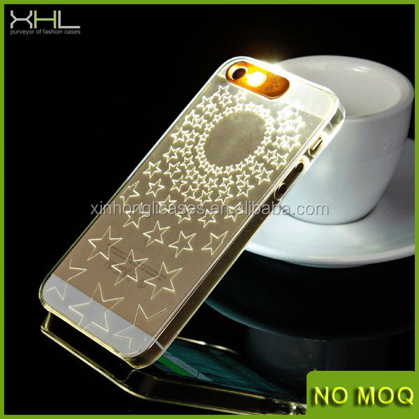 Hot selling led flash case for iphone 5s, accessories for iphone 4s