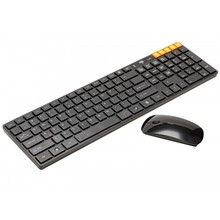 Mini Ultra-Thin 2.4G Wireless Keyboard and Mouse Set Compact & Reliable For PC Desktop