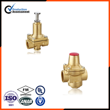 Brach type brass pressure reducing valve for water