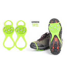 Anti-slip Silicone ice grip 5 spike rubber ice crampon shoe cover