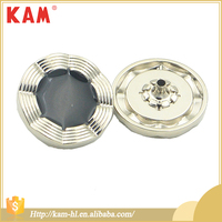 Custom metal stone shiny gold tone press snap button