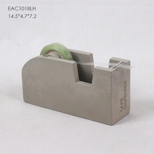 Square Concrete Tape Dispenser with Embossed Logo For Office Table Decoration