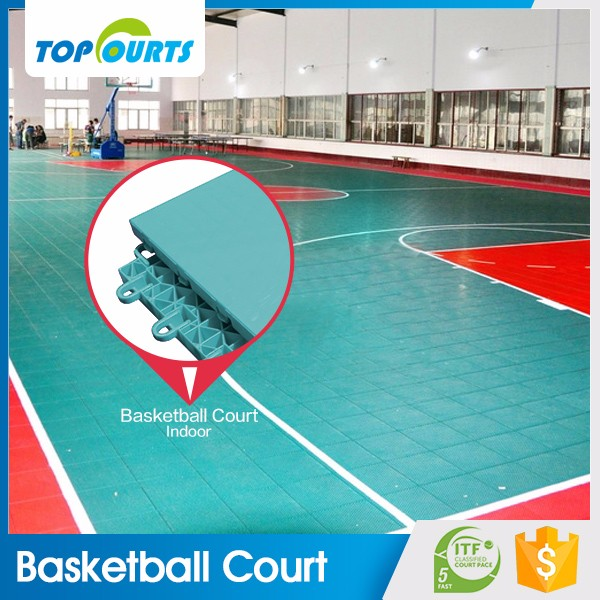 Trade assurance guaranteed quality indoor sports interlocking synthetic basketball court flooring