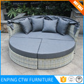 Best Selling Outdoor Furniture Round Sun Bed With Cover