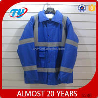 high visibility navy blue winter jacket