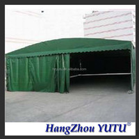 Hot sale customize PVC storage tents with curtain warranty for 5 years