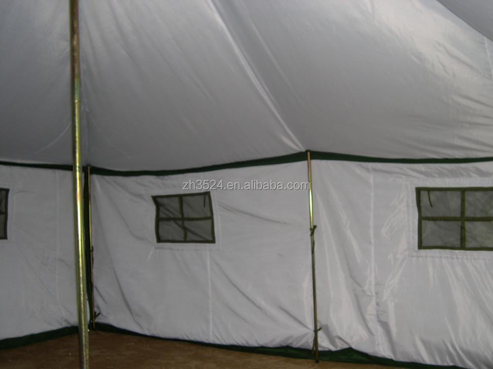 canvas army 4 seasons tent with tambour entrance