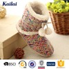colorful nice cashmere nature soft rubber sole snow boots women