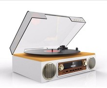 Hottest Portable suitcase turntable /suitcase turntable record player with USB Recording
