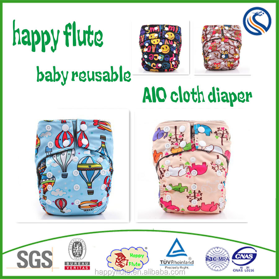 Happy flute cloth diaper bamboo AIO sleepy night reusable washable diapers wholesale