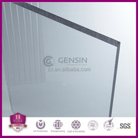 Haining Gensin 1.5-12mm Transparent plastic material solid polycarbonate roofing sheets