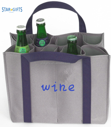 2018 Special Design Large Capacity 300D Polyester Tote Wine Bag