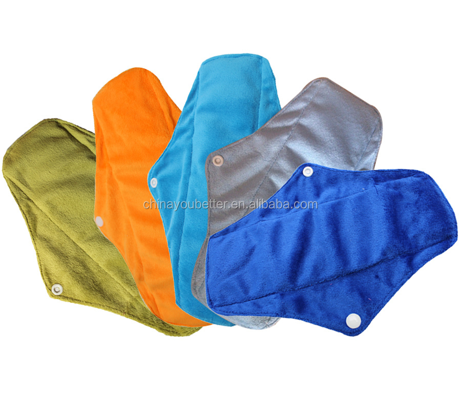 Wholesale Soft Bamboo Mama Cloth Pads Regular Menstrual Sanitary Pads