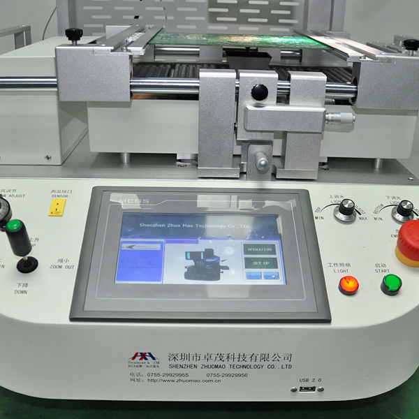 Hot selling tools Zhuomao BGA chip rework station ZM-R6200 hot air optical machine to repair mobile phone, game console,GPS