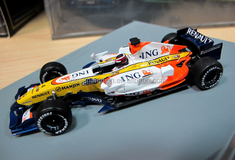 Oem custom diecast metal 1/43 f1 car replica scale model kit collectibles
