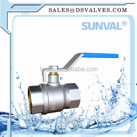 S1106 00 brass nicke plated hot selling F/F Ball Valve