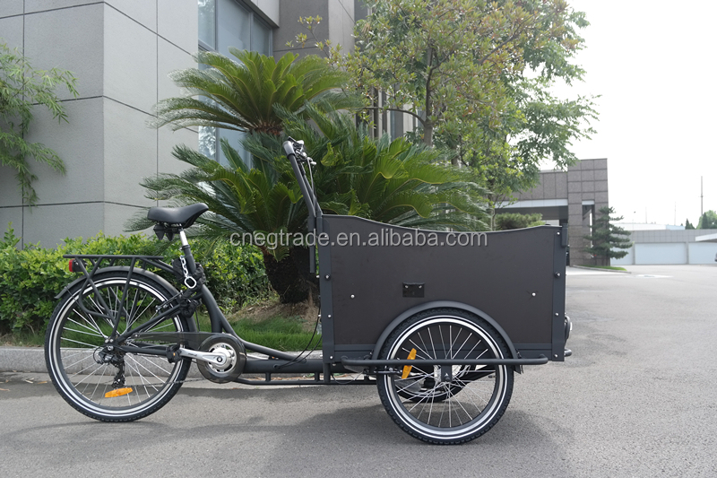 2016 steel frame tricycle cargo bike for family carrying children with cheap price