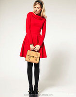 Yigelila Brand 6116 Fashion Hot Sale Long Sleeve Red Dresses Shop Clothing Of Women