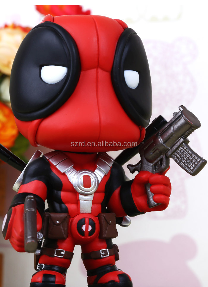 2016 hot sale mini anime figure Q version deadpool for sale