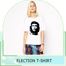 Wholesale cheap price custom printed Election Women t-shirt oem factory