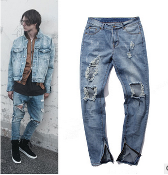 ripped motor jeans new style fashion slim fit distressed biker jeans for men biker jeans