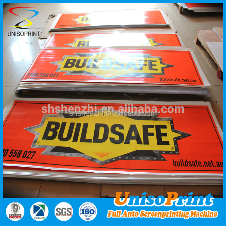 Screenprinting with UV stable ink Digital printing mesh grommets eyelets hang banner/pvc fence vinyl