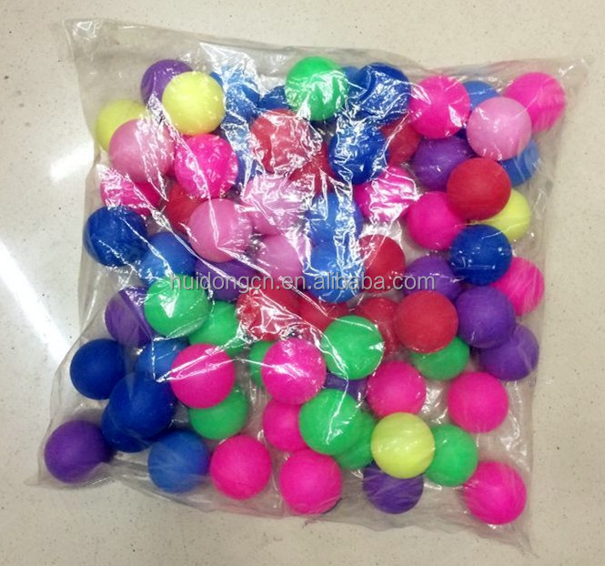 Wholesale cheap beer pong balls green white pink yellow red Ping pong ball plastic table tennis ball for toys