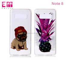 Transparent soft tpu case back cover for Samsung galaxy note 8 cute IMD fashion pattern glitter power ultra slim phone cover