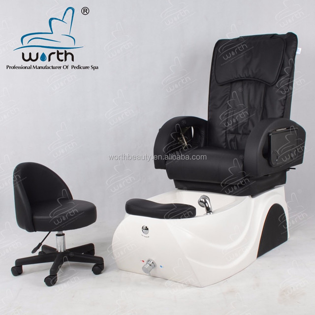 Hand spa equipment electric massage pedicure chair with adjustable footrest