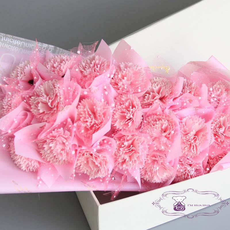2018 New Carnation Soap Flower Bouquet For New Year Gift - Buy Soap ...