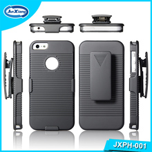 Factory price for New 2016 PC kickstand shell holster combo case for iPhone 5