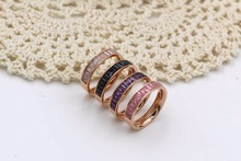 New Innovative Products Rose Gold Aaaaa Rianbow Cubic Zirconia Rings