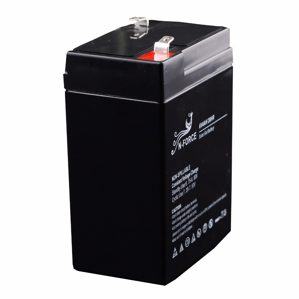 Top sales rechargeable sealed lead acid agm deep cycle 6v 4ah battery for solar energy system