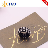 s>>>>Fashion Handmade woven beads crystal Elastic Ponytail Holders For Girl Rubber Band Tie Hair tie for girls