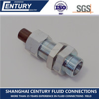 Din2353 Carbon Steel compression fitting for Steel pipe tube to tube EO 24 degree cone end SV bulkhead union