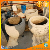2015 top selling bluestone window trough/round stone trough for sale/stone trough planter