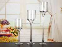 Wholesale Competitive Price Wedding Decorations of Clear Tall Stem Glass Vase