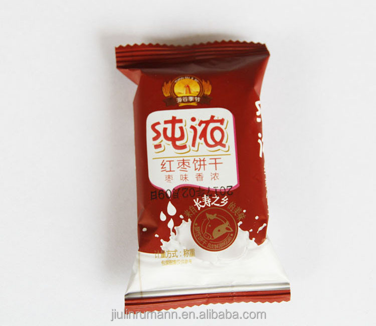 Red jujube flavor fruity crisp cookies biscuit manufacturers