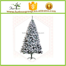christmas tree with artificial snow
