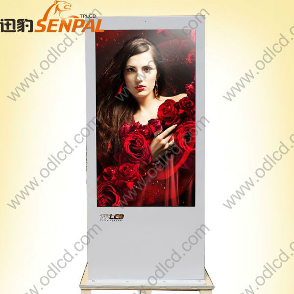 42inch outdoor floor standing transparent lcd displayer digital billboards for sale