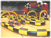 huayu electric toy race track,inflatable race track ,kids toy cars race track