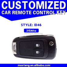 Car Key Replacement 2 Button ID46 Remote Keycase 315Mhz Replacement Key Blank For Buick MTF-102400