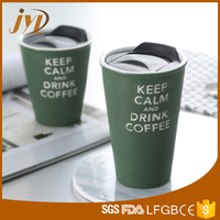 Eco friendly starbucks coffee travel mug with plastic cover