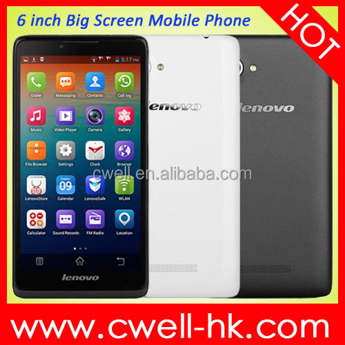 Original China Brand Lenovo A889 Phablet 6 Inch 3G Smartphone Android 4.2 MTK6582 Quad Core 8GB ROM 8MP Camera WIFI GPS Unlocked