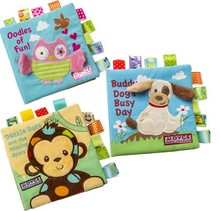 Baby cloth book cloth soft book baby plush toys for wholesale